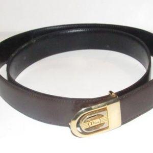 Dior Brown/Black 2-tone Buckle Reversible Belt